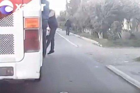 Daha bir avtobusda sürücü özbaşınalığı - VİDEO
